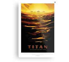 Retro NASA Space Poster - Titan Metal Print
