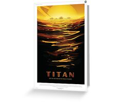 Retro NASA Space Poster - Titan Greeting Card