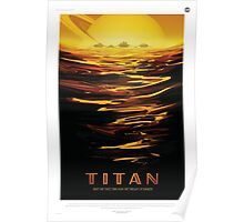 Retro NASA Space Poster - Titan Poster