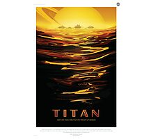 Retro NASA Space Poster - Titan Photographic Print