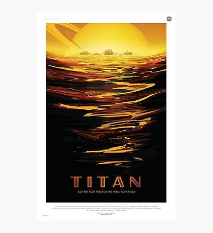 Retro NASA Space Poster - Titan Photographic Print