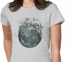Effervescent Moon Womens Fitted T-Shirt