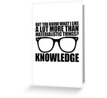 Knowledge - Black Text Greeting Card