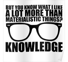 Knowledge - Black Text Poster