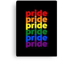LGBTQ Pride (rainbow on black background) Canvas Print