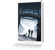Retro NASA Space Poster - Ceres Greeting Card