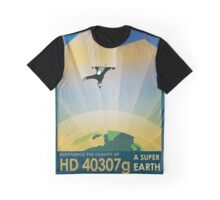 Retro NASA Space Poster - Super Earth Graphic T-Shirt