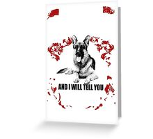 GERMAN SHEPHERD LOVERS Greeting Card