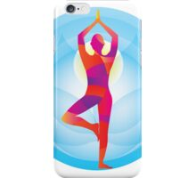 standing pose,yoga,yogi,blue,red,chi,healer,healing,chakra iPhone Case/Skin