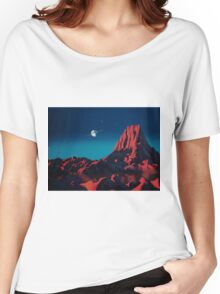 Space art landscape: Loneliness Women's Relaxed Fit T-Shirt