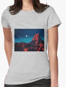 Space art landscape: Loneliness Womens Fitted T-Shirt