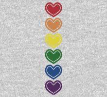Pride Hearts LGBTQ One Piece - Long Sleeve