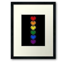 Pride Hearts LGBTQ Framed Print
