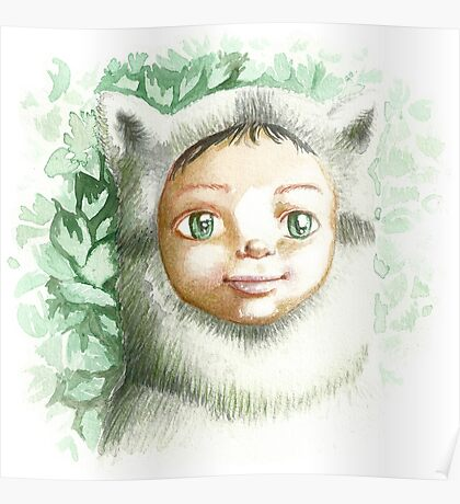 racoon child Poster