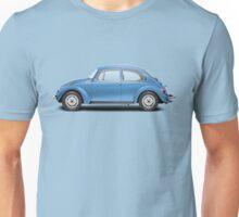 1975 Volkswagen Super Beetle - Ancona Blue Metallic Unisex T-Shirt