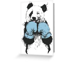 Panda Boxing Greeting Card