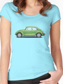 1975 Volkswagen Super Beetle - Viper Green Metallic Women's Fitted Scoop T-Shirt