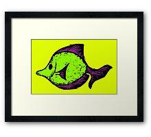 Goofy Fish Framed Print
