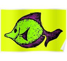 Goofy Fish Poster