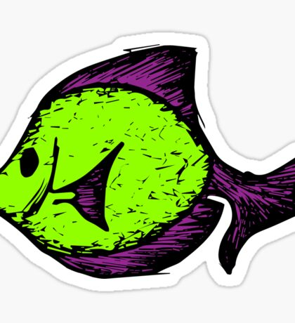 Goofy Fish Sticker