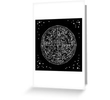 Black and white zodiac signs  Greeting Card