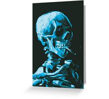 Van Gogh Skeleton in Sky and Pine Greeting Card