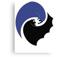 Black vs Blue Canvas Print