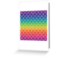 Rainbow Glitter Scales Greeting Card