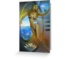sacred feminine  two re-edited Greeting Card