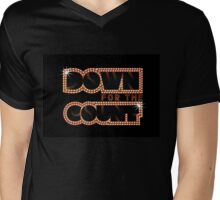 Down For The Count Band Logo Mens V-Neck T-Shirt