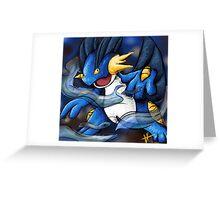 Swampert- Digital Art Greeting Card