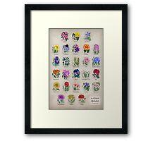 The Floral Alphabet Framed Print