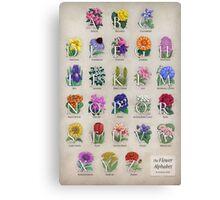 The Floral Alphabet Canvas Print
