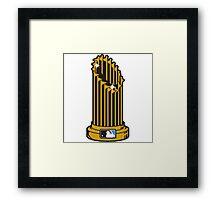 MLB UNOFFICIAL TROPHY Framed Print