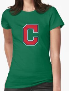 INDIANS CLEVELAND SIMPLE LOGO Womens Fitted T-Shirt