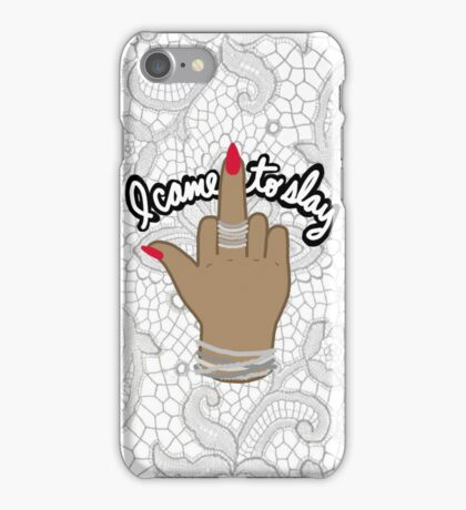 I came to slay beyonce tumblr middle finger feminist formation kanye print iPhone Case/Skin
