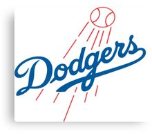 DODGERS BASEBALL LOGO Canvas Print