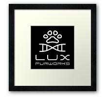 Lux Furworks Logo Framed Print
