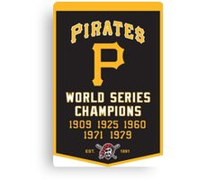 PIRATES HISTORIC CHAMPION Canvas Print