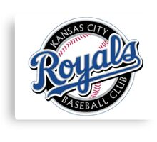 KANSAS CITY ROYALS LOGO Canvas Print