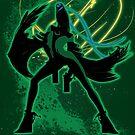 Super Smash Bros Green Bayonetta (Original) Silhouette by jewlecho