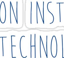 Fashion Institute of Technology - HANDWRITTEN-2/NAVY Sticker