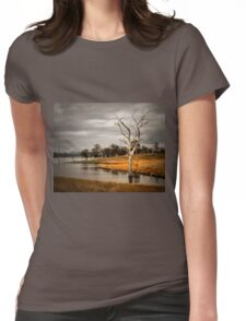Solitary Tree Womens Fitted T-Shirt
