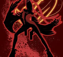 Super Smash Bros. Red Bayonetta (Original) Silhouette by jewlecho