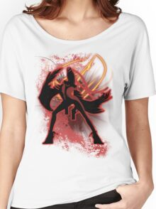Super Smash Bros. Red Bayonetta (Original) Silhouette Women's Relaxed Fit T-Shirt