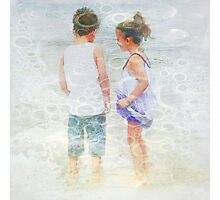 Sand between our toes - by Anne Winkler Photographic Print