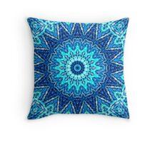 Stich-Work Mandala Throw Pillow
