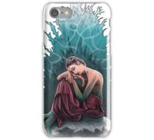 Red draped melancholy mermaid iPhone Case/Skin