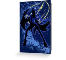 Super Smash Bros. Blue Bayonetta (Original) Silhouette Greeting Card