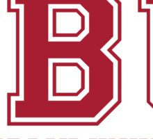 SBU & Stony Brook University - ATHLETIC/DEEP RED Sticker